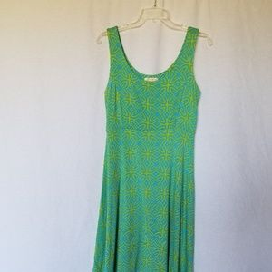ZEN KNITS green summer sun dress size medium.